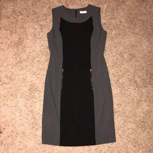 Calvin Klein dark gray and black dress